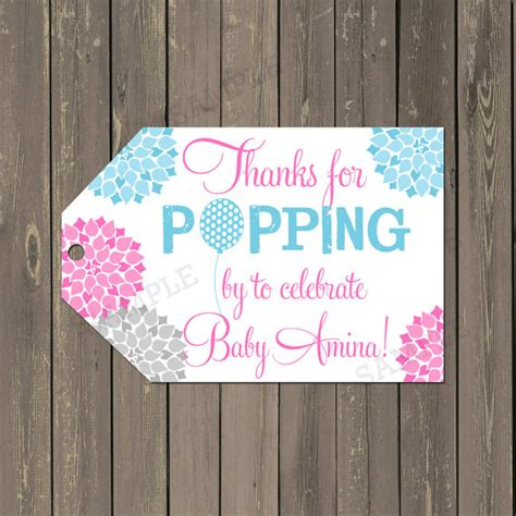 printable thank you tags for baby shower ready to pop baby shower tags baby shower favor tags