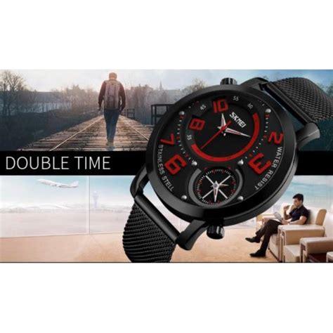 Skmei Jam Tangan Kasual Pria skmei jam tangan kasual pria stainless steel 9168 blue