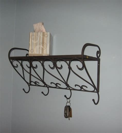iron wall shelf with hooks buy iron wall shelf with