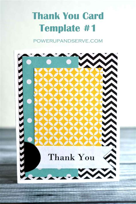 powers card template thank you card template 1 power up and serve