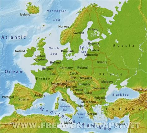map of europe physical summary 12 4 history and government learning team 4 3