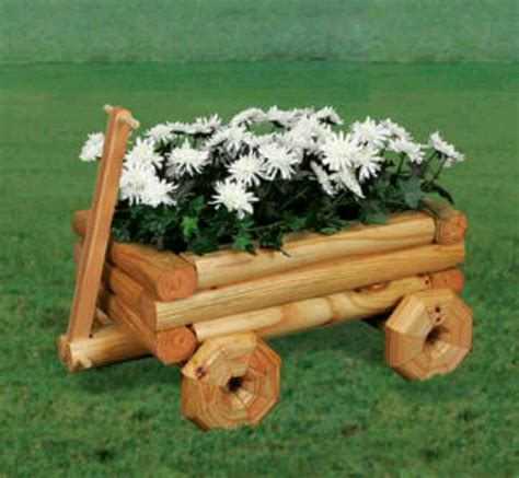 wooden wagon planter plans woodworking projects plans