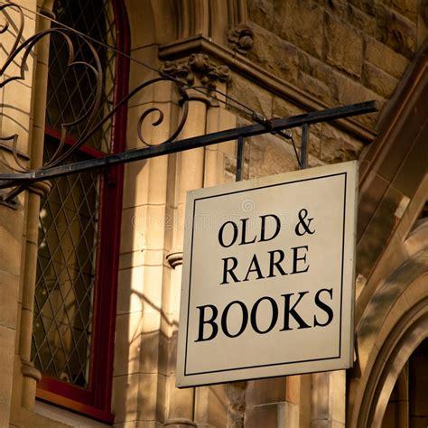 rare books sign stock photo image  stone