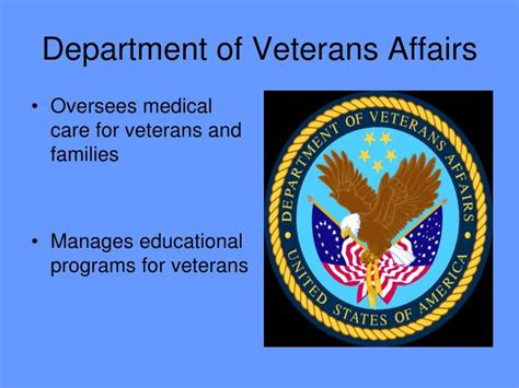 The Department Of Veterans Affairs Is A Cabinet Level Organization by Ppt The President S Cabinet Powerpoint Presentation Id