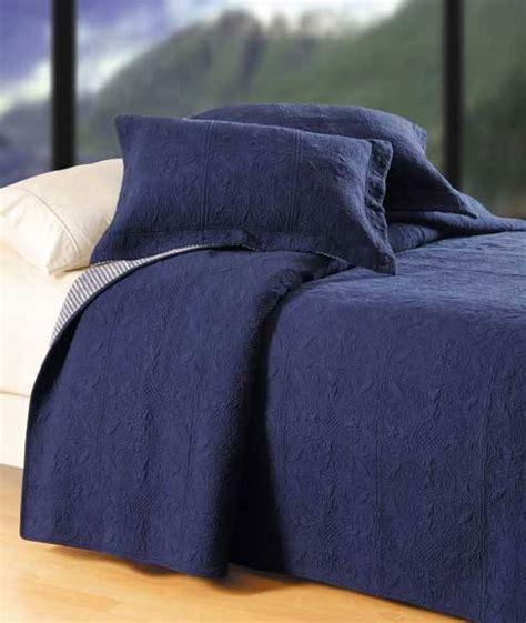 denim coverlet indigo navy matelasse tile quilt by c f