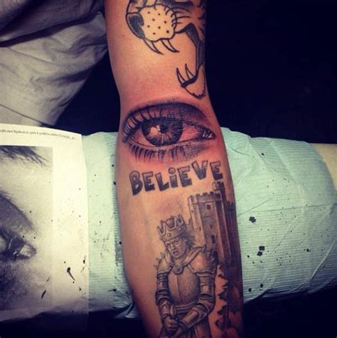 justin bieber reveals his latest tattoo