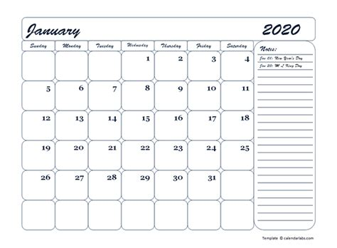 monthly blank calendar template  printable templates