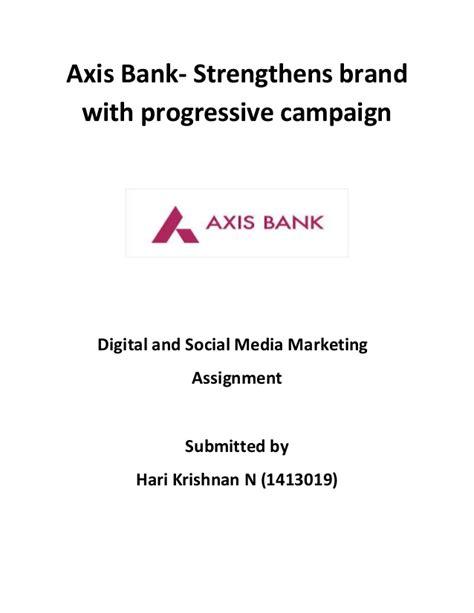 axis bank company profile axis bank social media marketing