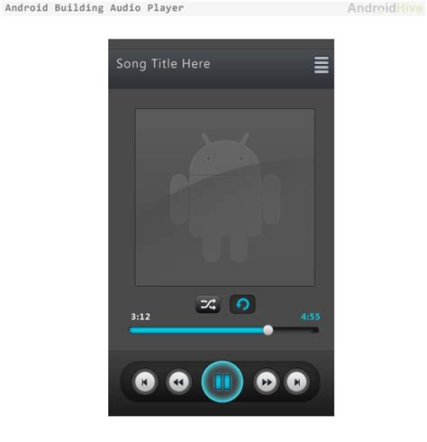 player android android building audio player tutorial