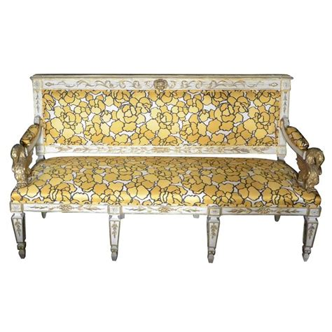 floral settee italian neoclassical eagle settee with marc jacobs silk