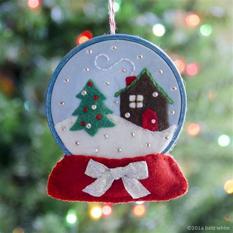 pattern for felt christmas lights betz white snow globe ornament pattern holiday stitch