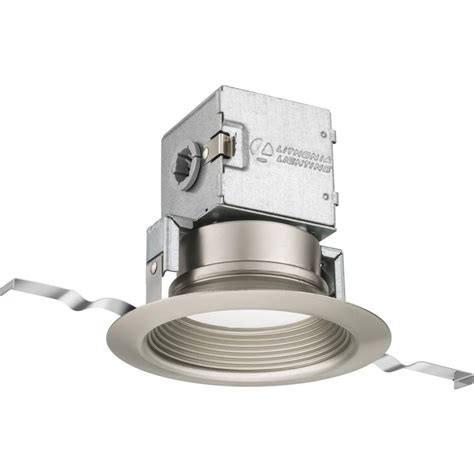 lithonia recessed lighting reviews lithonia lighting lithonia oneup 4 in brushed nickel