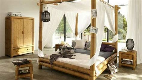 chambre en bambou le lit en bambou authenticit 233 et touche archzine fr