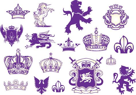 royal design elements vector heraldry vector graphics blog