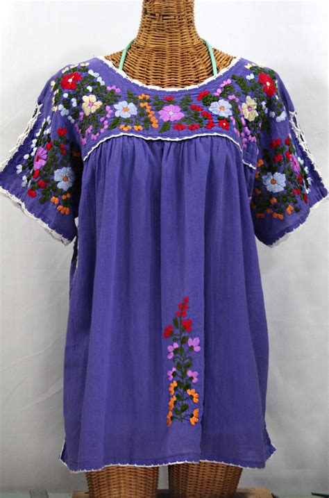 Blouse By Liblre quot lijera libre quot plus size embroidered blouse purple