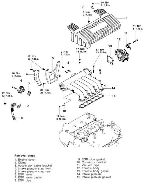 2000 mitsubishi galant intake manifold mitsubishi engine diagram 3 5l cable get free image