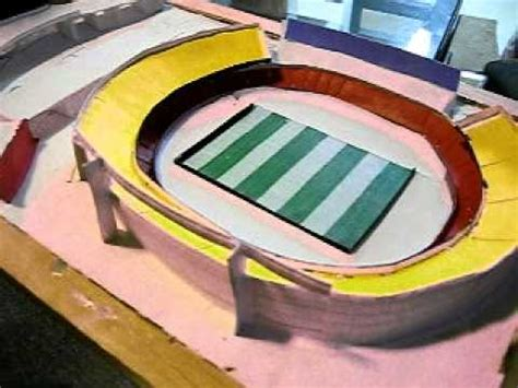 How To Make A Stadium Out Of Paper - my paper soccer stadium