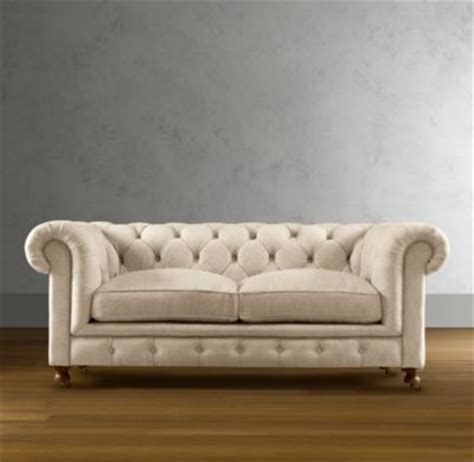 restoration hardware tufted white sofa someday