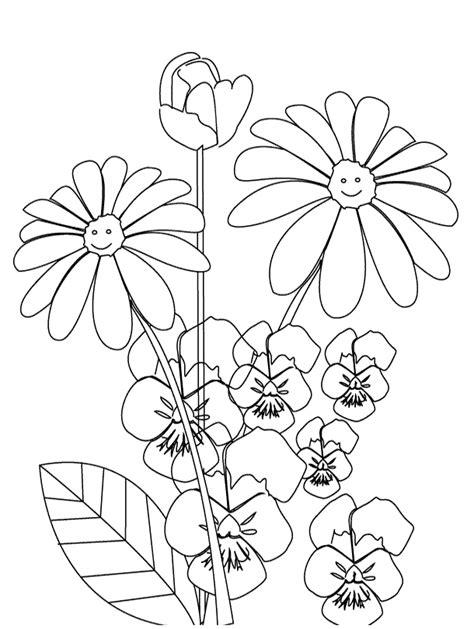 dibujos infantiles para colorear de flores dibujos para imprimir y colorear flores para colorear