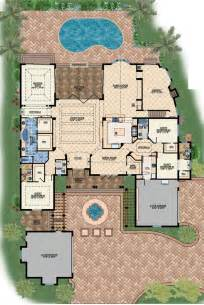 Mediteranian House Plans by Floor Plan Of Coastal Contemporary Florida Luxury
