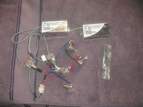 epiphone classic  probucker pickups wiring harness reverb