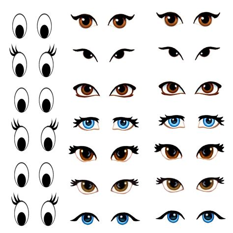 printable doll eyes my skills guide manga eyes for amigurumi practice