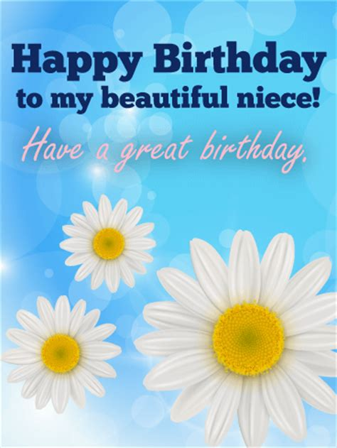 Happy Birthday My Beautiful Quotes To My Beautiful Niece Happy Birthday Card Birthday