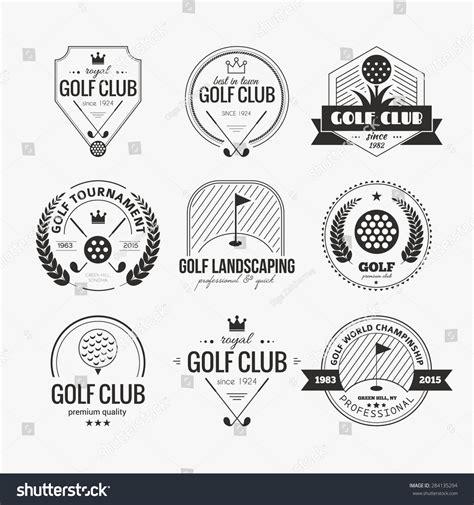 Set Golf Club Logo Templates Hipster Stock Vector 284135294 Shutterstock Golf Tournament Logo Template