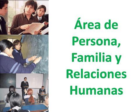 programacion de persona familia y relaciones humanas de 4 de secundaria persona familia y relaciones humanas familia y sociedad