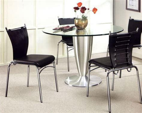 Metal Dining Table W Glass Top Ol Dt17 Metal Dining Set W Glass Top Ol Dt20s
