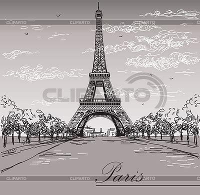 imagenes blanco y negro torre ifel paisaje con la torre eiffel en blanco y negro