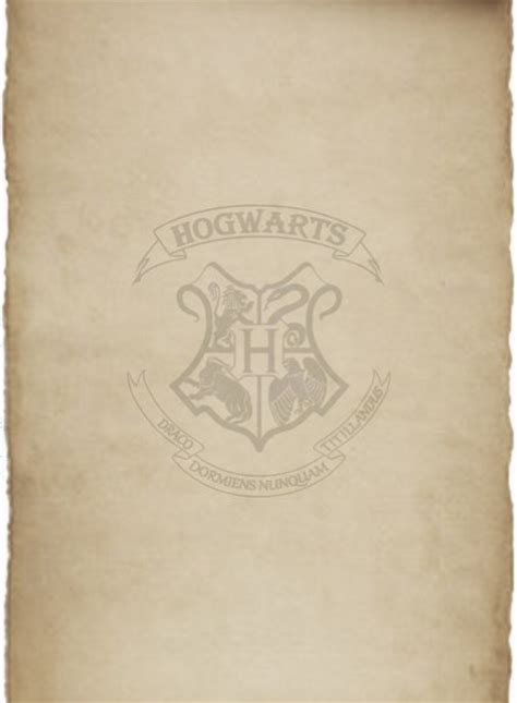 Hogwarts Acceptance Letter Background List Of Parchments Asrama Hogwarts Stationary