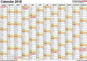 Calendar 2018 Printable With Week Numbers Excel Calendar 2018 Uk 16 Printable Templates Xls Xlsx