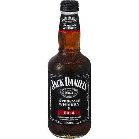 black jack whisky cola jack daniels tennessee whiskey cola bottle 330ml