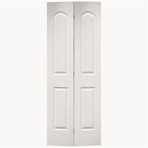 2 Panel Bifold Closet Doors Masonite 24 In X 80 In Smooth 2 Panel Top Hollow Primed Composite Interior