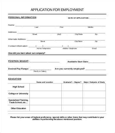 Job Application Template Doliquid Simple Application Template