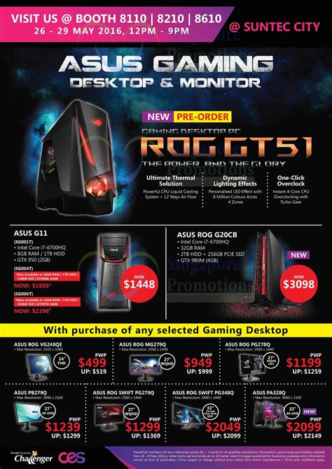 Asus Laptop Singapore Challenger 27 may cee show challenger flyer asus rog desktop pcs 187 consumer electronics exhibition cee at