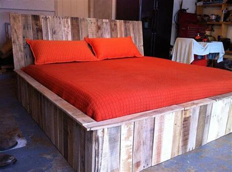bed made from pallets 5 diy beds made from wooden pallets 99 pallets