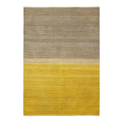 teppiche senfgelb field rug 170x250 cm yellow grey brita sweden brita
