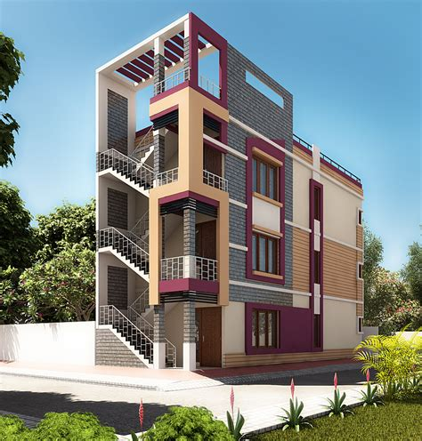 small home exterior design  view  behance
