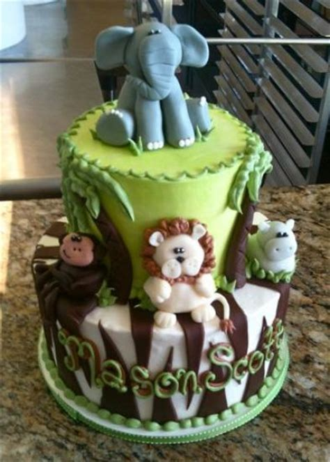 2 layer baby shower cakes celebration cakes mary s cakes pastries jungle cake