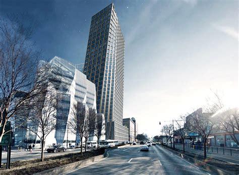 100 Floors Level 76 Tower - new renderings shape shifts for bjarke ingels designed