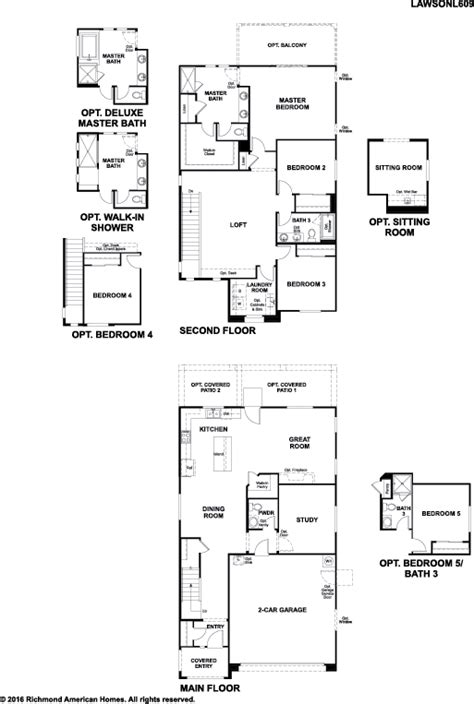 richmond american home floor plans richmond homes floor plans