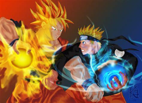 imagenes de goku vs naruto vayaperson fan art de goku vs naruto