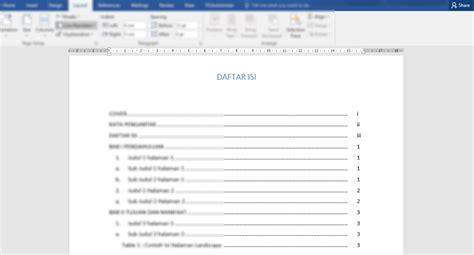cara membuat jurnal skripsi di ms word cara membuat daftar isi otomatis di word praktis buat