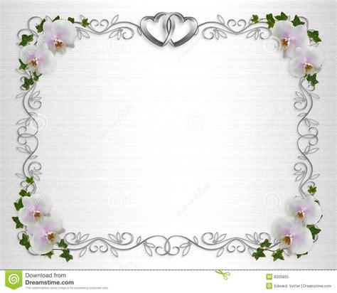 wedding invitation borders free wedding invitation border orchids stock illustration image 8335855