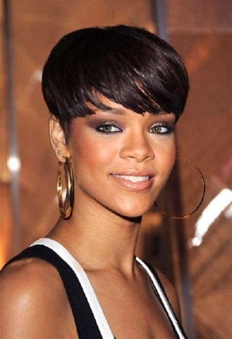 black hairstyles for full face women best short haircut with full bangs african american hair