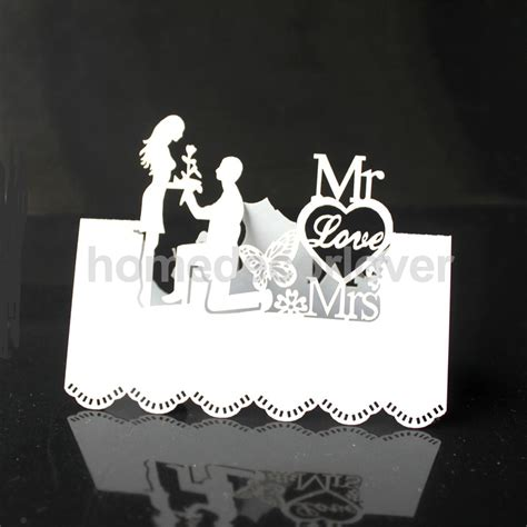 deco table name card template 50pcs white laser cut wedding table place card name card