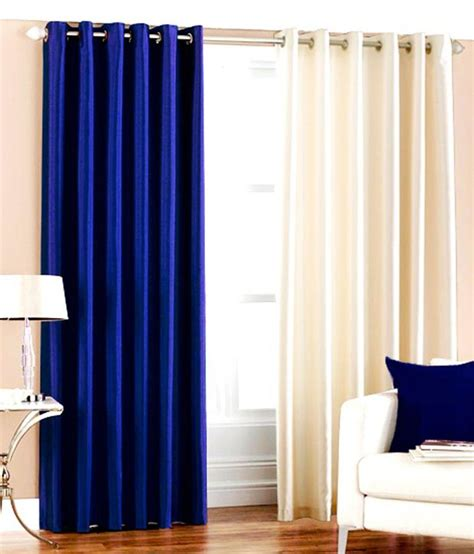 Royal Blue Curtains Flano Plain Eyelet Curtain 9ft Set Of 2 Royal Blue