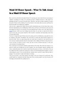 pics photos maid of honor speech examples
